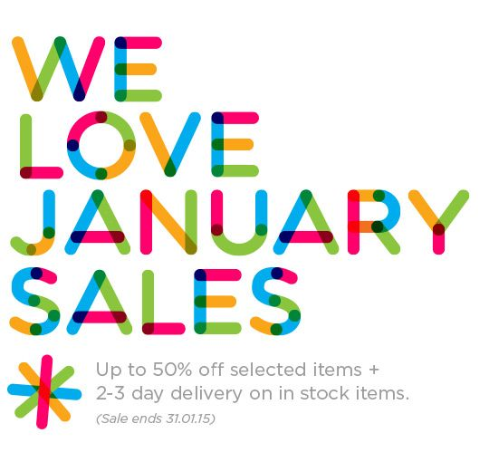 Up to 50% off selected sofas, sofa beds, dining and living room furniture and 2-3 day delivery. Ends January 31st.
