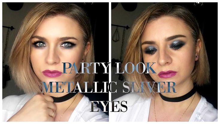 party looks Metallic Sliver Eye Makeup #partylooks #metallic