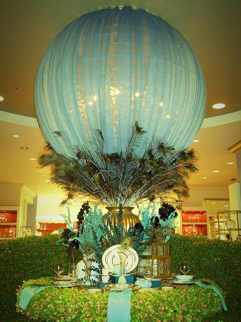 Image result for balloon and tulle centerpieces