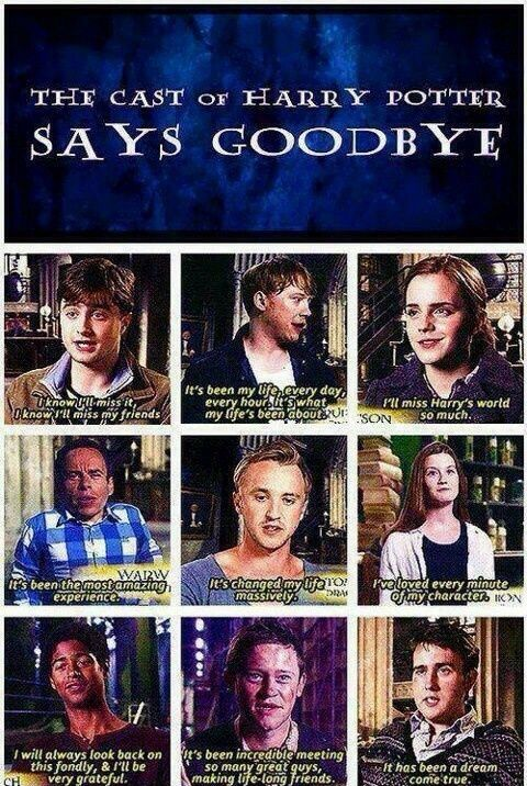 The Cast of HP says Goodbye