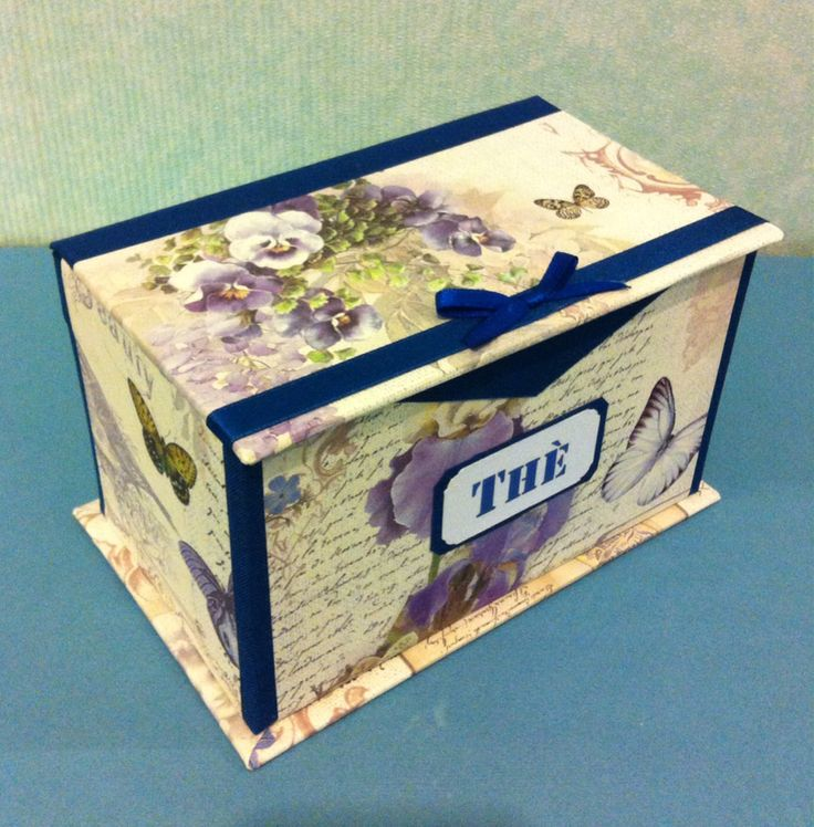 Scatola porta thè, un ottima idea regalo, per contenere le bustine di thè o tisane  Artefattishop disponibile su Etsy.com