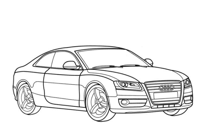 Ausmalbilder Audi A4