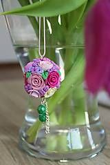 Roses nacklace made by polymer clay