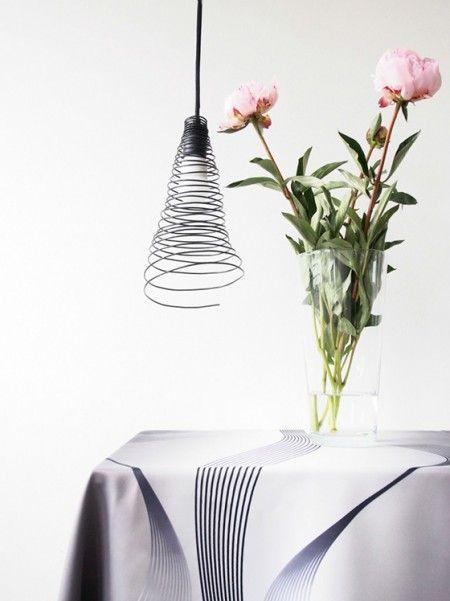 Como hacer una lámpara colgante en espiral