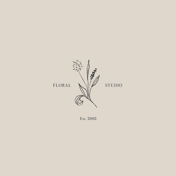 Premade Floral Logo Design Minimalist Modern Stylish
