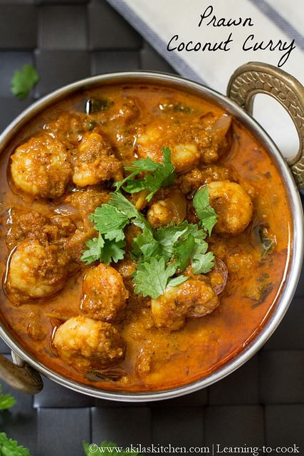 Prawn Coconut Curry  or Coconut Shrimp Curry  forms a great side dish for any Indian flat breads or any Biryani varieties where...