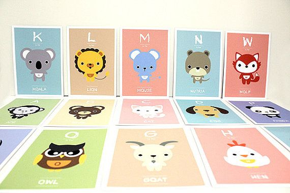 Children Decor Alphabet Nursery Art Print Kids Wall by loopzart, $30.00