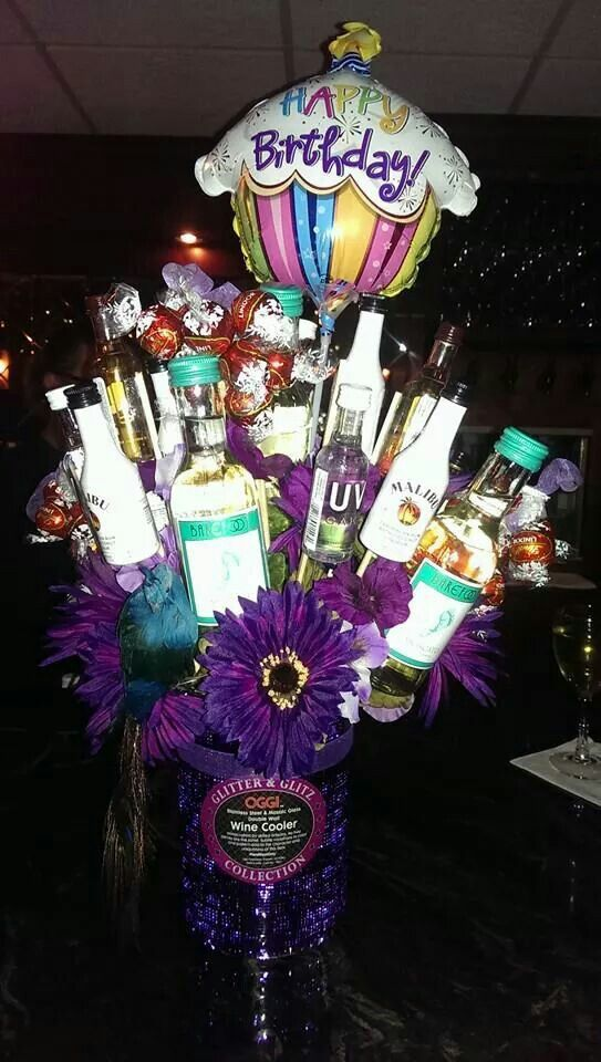 Best 25 Mini Alcohol Bouquet Ideas On Pinterest 21st