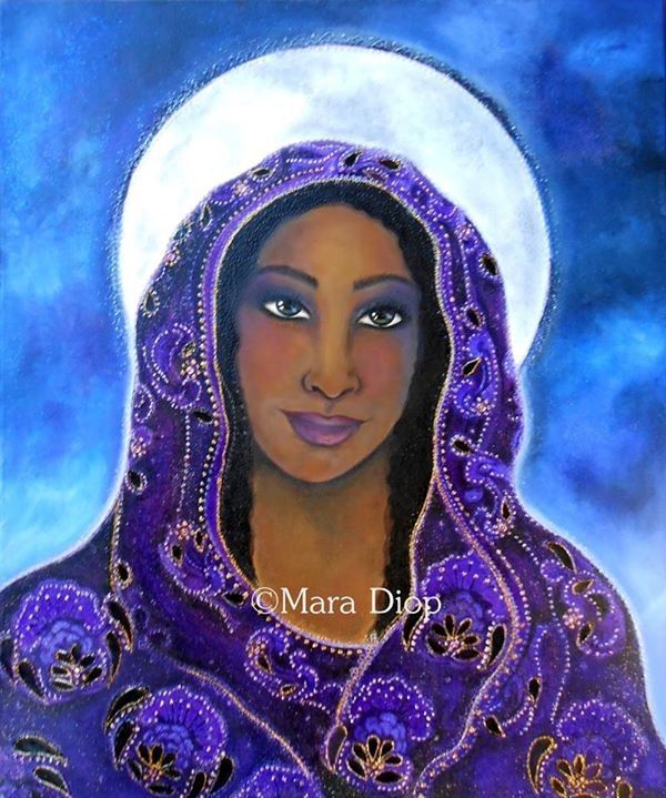 The High priestess. Original for sale. Www.maradiop.com