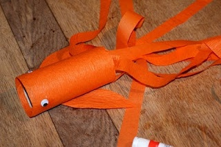 gold fish kite craft to celebrate the chinese new year