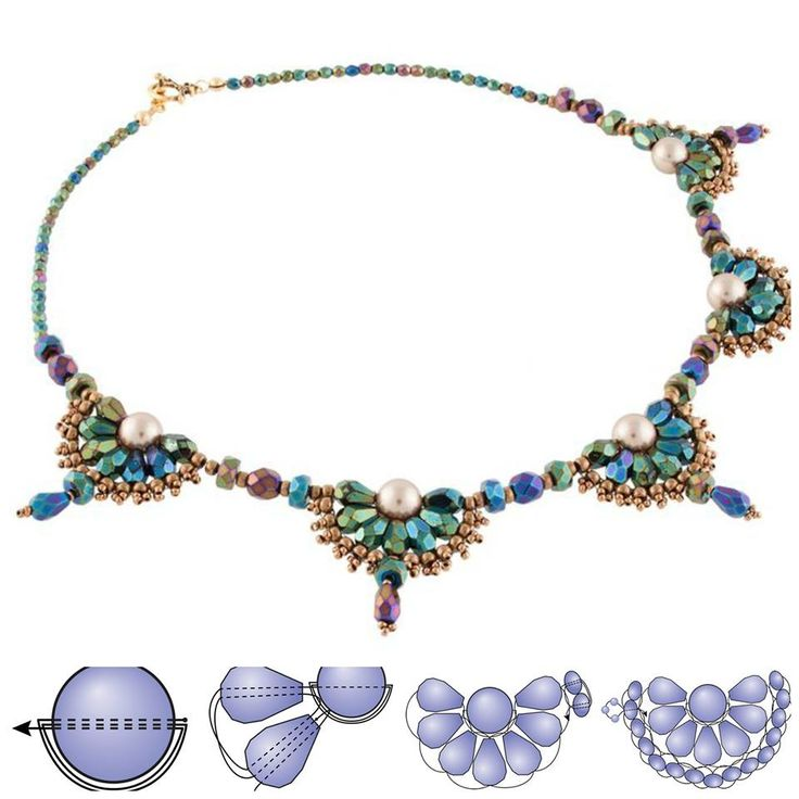 1349 best images about beaded necklace patterns on