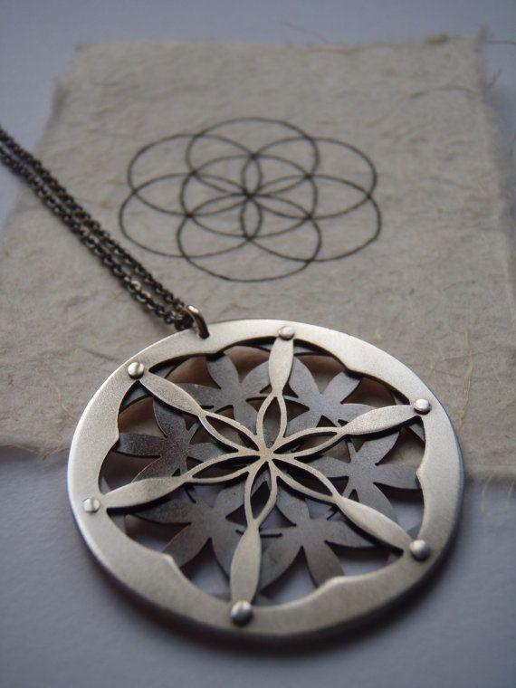 Double Layer Flower of Life Pendant  by JeanBurgersJewellery, $260.00