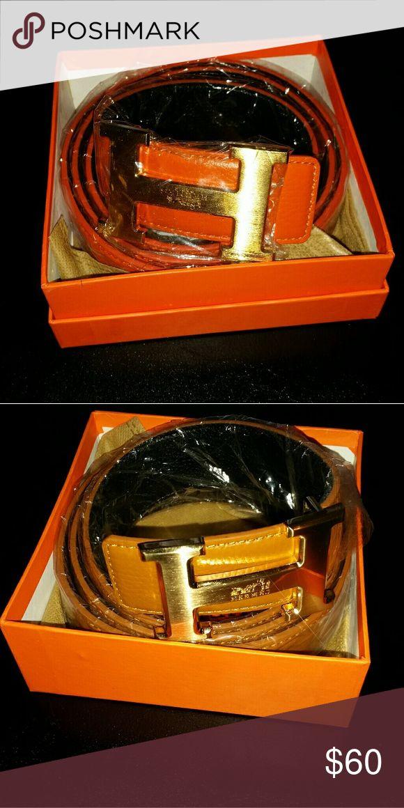 Hermes belt Reversible to black brand new price is each hermes Other