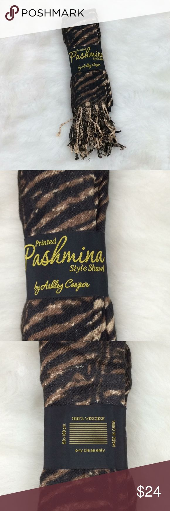 NWT Pashmina by Ashley Cooper scarf ✔️Brand new Ashley Cooper Accessories Scarves & Wraps