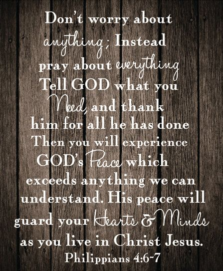 Philippians 4:6-7 Canvas art Rustic Design