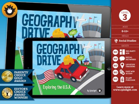 Geography Drive USA ($3.99)  Drive across America and learn all the states!