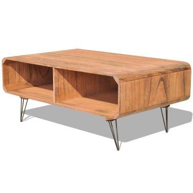 vidaXL Salontafel 90 x 55,5 x 38,5 cm hout bruin[2/7]