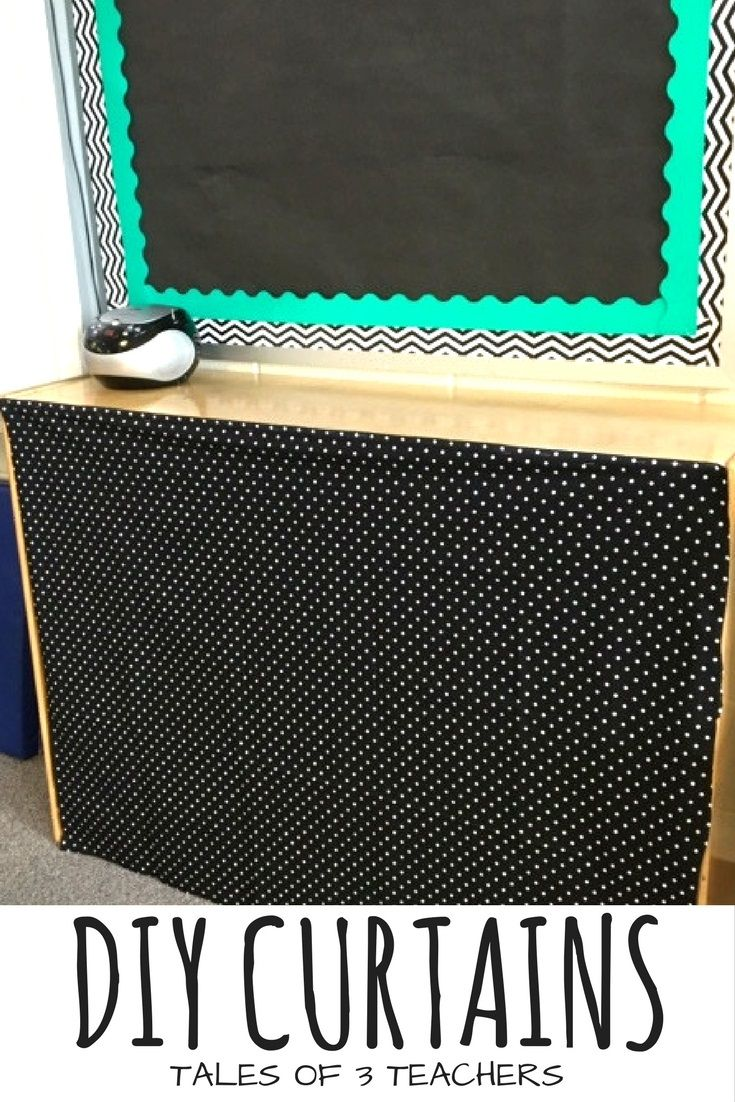 Burlap curtains are you kidding me what a backdrop - Diy Classroom Curtains Covering The Classroom Clutter Hide The Mess Minimize Distractions In