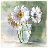 GerberasPearl White Gerbera (cross stitch, вышивка крестом) - Analia Gabriela Frola - Picasa Web Albums