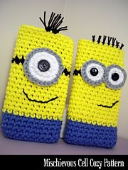 Ravelry: Mischievous Minion Cell Cozy pattern by Janet Jameson