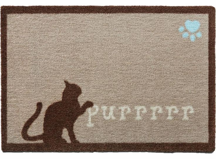 HOWLER & SCRATCH PURRRR CAT BROWN / DOOR MAT / FOOD TIDY / BARRIER MAT / RUNNER #HowlerScratch #AnimalPrint