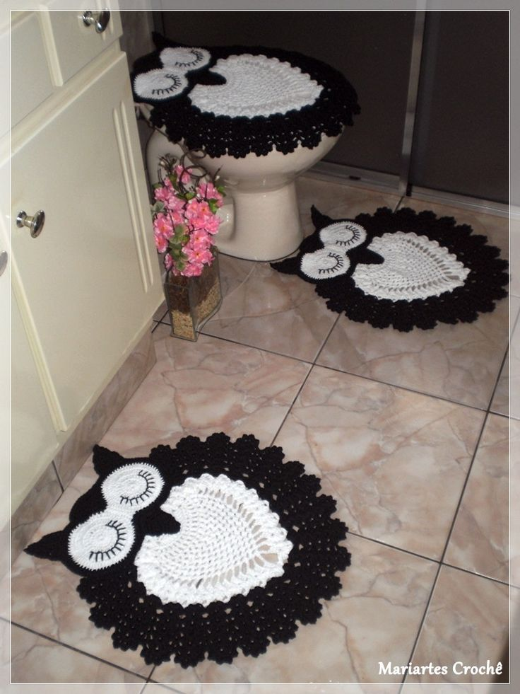 Jogo de banheiro corujas