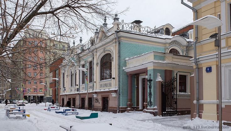 Самые красивые дома Москвы. Особняк в стиле модерн.