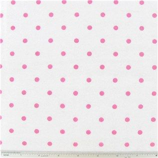 Bubblegum Pink Dots on White Flannel Fabric | Shop Hobby Lobby