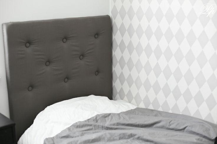 Pinglans Pärlor DIY Stoppad sänggavel DIY Pinterest Sänggavel, Pärlor och Barnrum