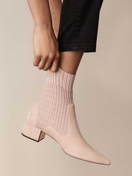 885415089454 Spring Summer 2018 Women´s NUDE FABRIC ANKLE BOOTS at Massimo Dutti for  140. Effortless elegance!