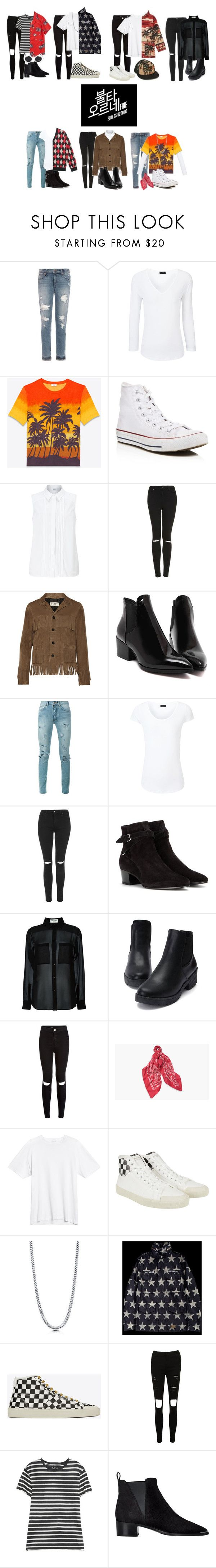 """""""BTS(방탄소년단) _ FIRE (불타오르네)"""" by yonce4park ❤ liked on Polyvore featuring Joe's Jeans, Joseph, Yves Saint Laurent, Converse, John Lewis, Topshop, New Look, BERRICLE, NLST and Acne Studios"""
