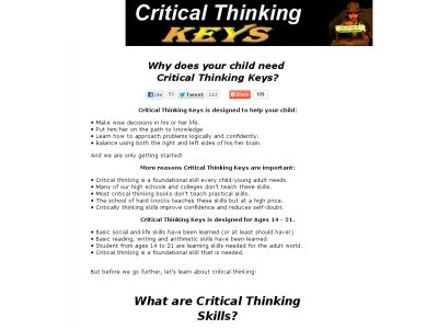 keys to critical thinking red Introduction to critical thinking 2008,  he drives through a red light and hits another car  but he took away her keys and the two of them drove home together.