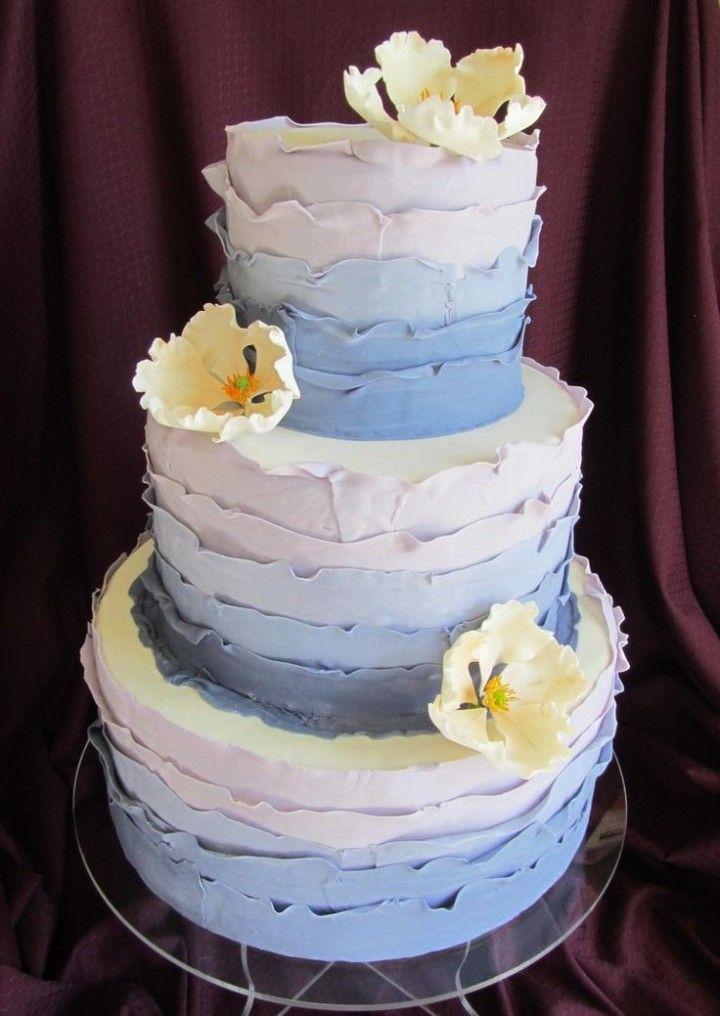 Simple Wedding Cakes Navy