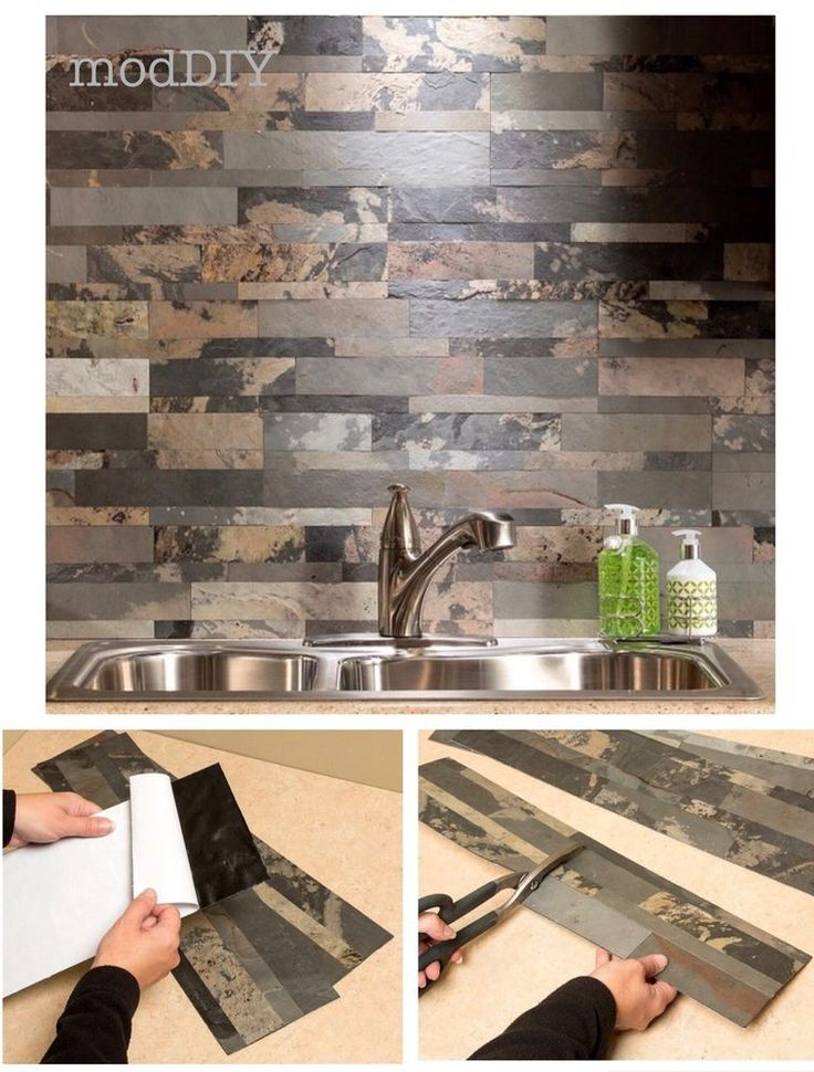 Self Adhesive Backsplash Kitchen Tile Panels Natural Stone Veneer Peel and Stick #Aspect