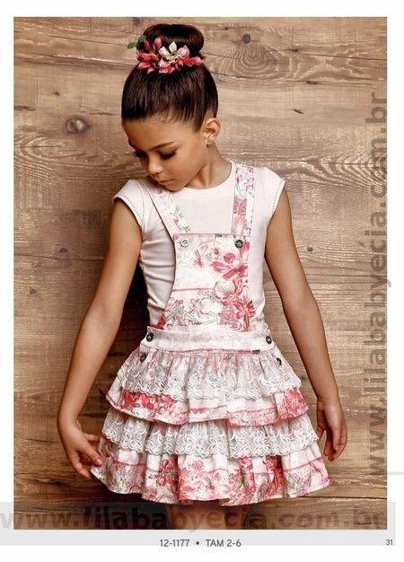 Blusa Infantil com Salopete Diforini Moda Infanto Juvenil 121177