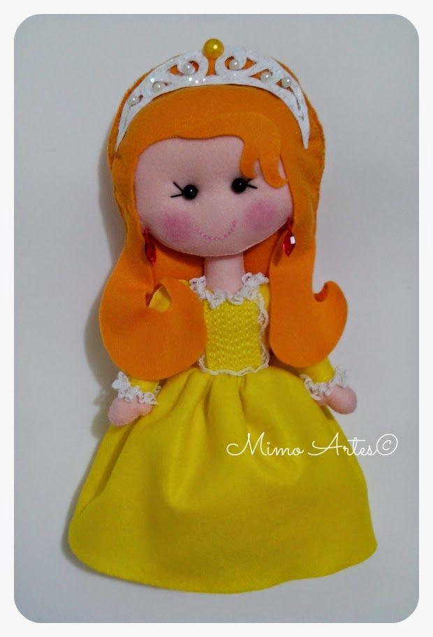 Mimo Artes: Princesa Amber de Feltro