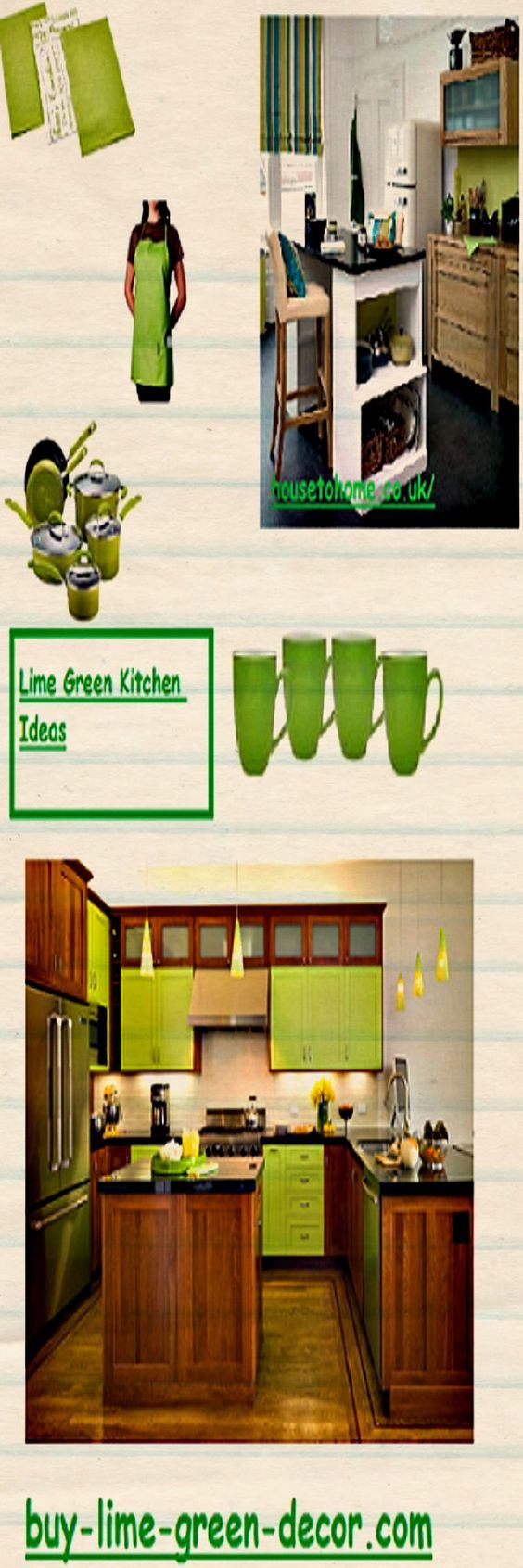 Lime green kitchen ideas for inspiration