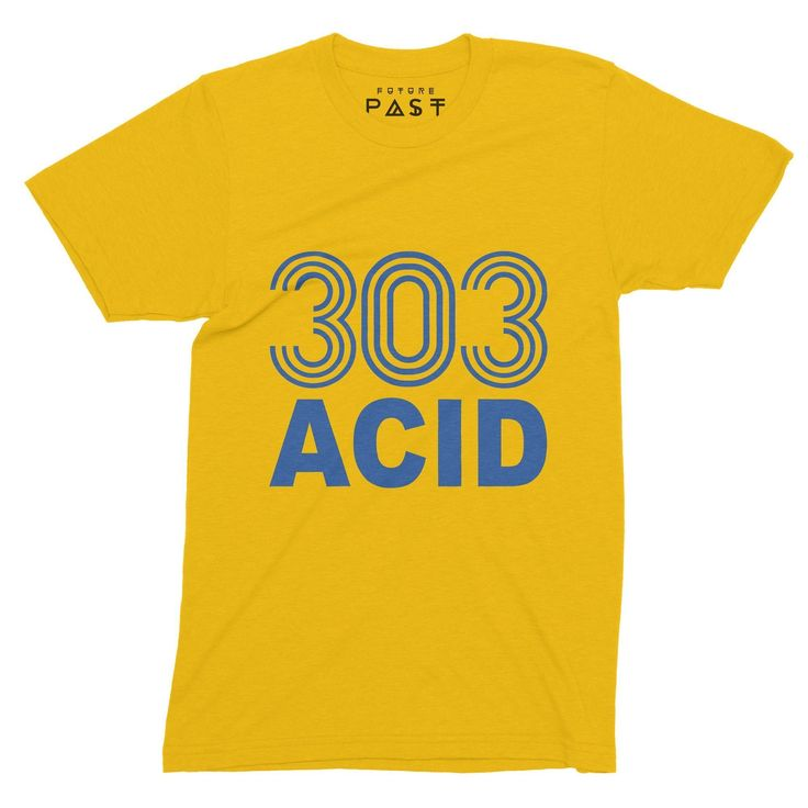 Premium Future Past Clothing 303 Acid State T-Shirt / Gold for only £24.97  Who also likes 303 Acid? A perfect state I think! Inspired byAcid House and the TB-303 and of course the legends 808 State, from 1985 in Chicago and taking off in 1987 and still going to this day. Anotherunique FuturePast Clothing original. #FrankieKnuckles #ecstacy #DjSpankSpank #tshirts #Rave #AcidTrax #JackYourBody #AcidSmiley #LarryLevan #808state #MrFingers #TheWarehouse #shoom #dove #TheTrip #HouseMusic…
