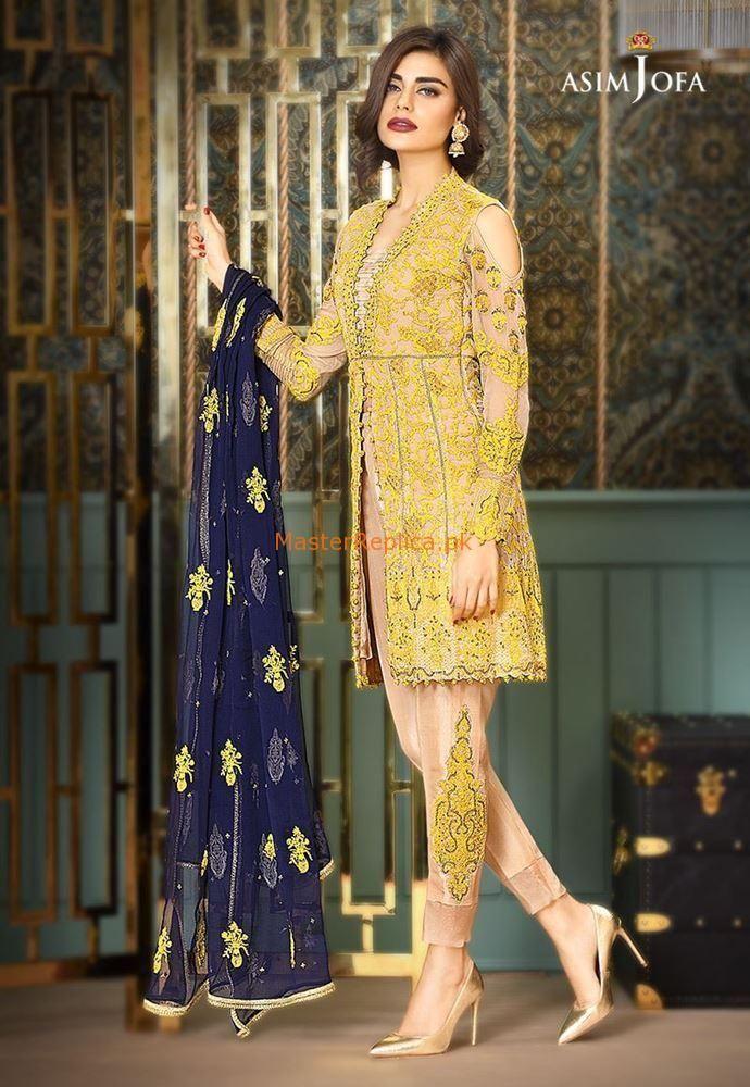 Maria B Asim Jofa Collection 2018 Latest Suit Embroidery Pakistani Shalwar Kamez