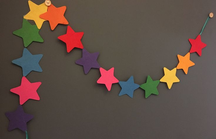Excited to share the latest addition to my #etsy shop: Rainbow star felt garland (1.3m)