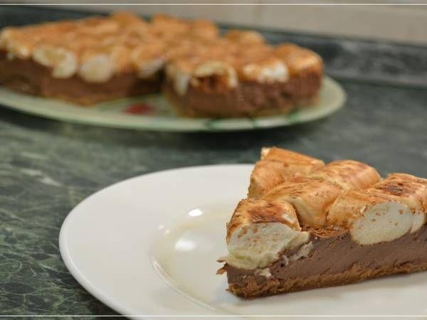 Шоколадный торт с маршмеллоу (без выпечки)