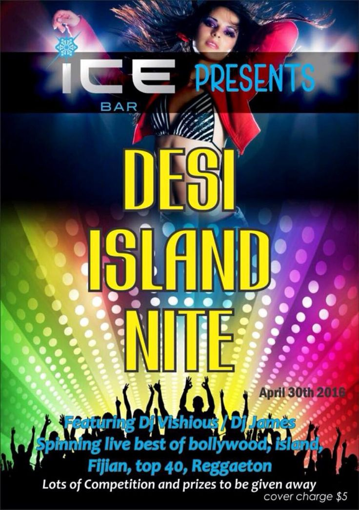 We thought to bring something different this time..   Desi Island night. Saturday April 30th,2016.  Lots of competitions and prizes to be given away and heaps of special on drinks!  DJ Vishious and DJ James spinning live the very best of Bollywood, Island mixes, Reggaeton,Top 40, House, Hip Hop. Don't miss out!!!