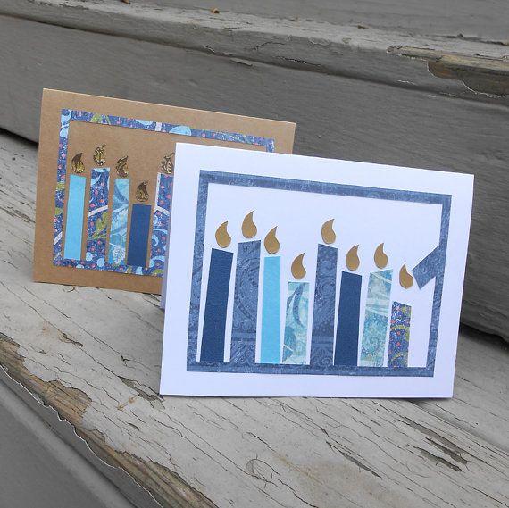 Simple Handmade Hanukkah greeting cards | Family Holiday