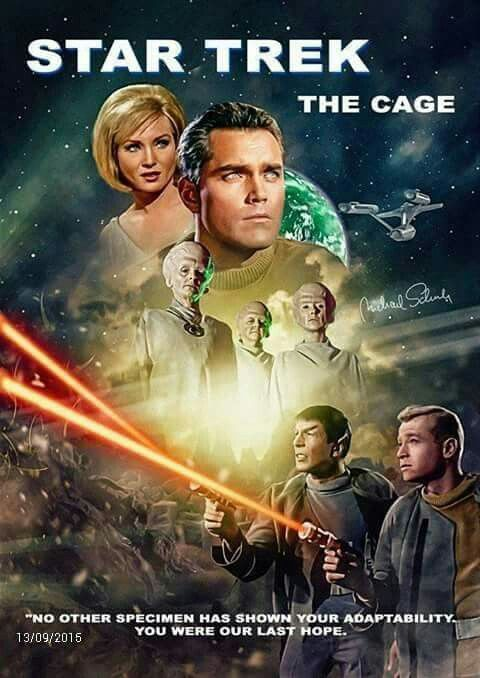 "Star Trek S00E00: ""The Cage"" (First screened to NBC in February, 1965 - Restored TV premiere, October 14, 1986)"