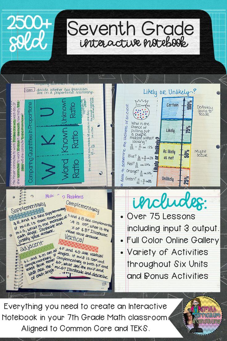 Are you ready to engage your students mentally and physically throughout the entire school year while covering all of your standards for seventh grade math?  This 7th Grade Math Interactive Notebook has everything you need to teach the standards for Operations with Rational Numbers, Expressions and Equations, Ratios and Proportions, Statistics and Inferences, Geometry and Probability. There is also an included Bonus Lessons section to fulfill the 2014 Math TEKS for all of my Texas Teachers.