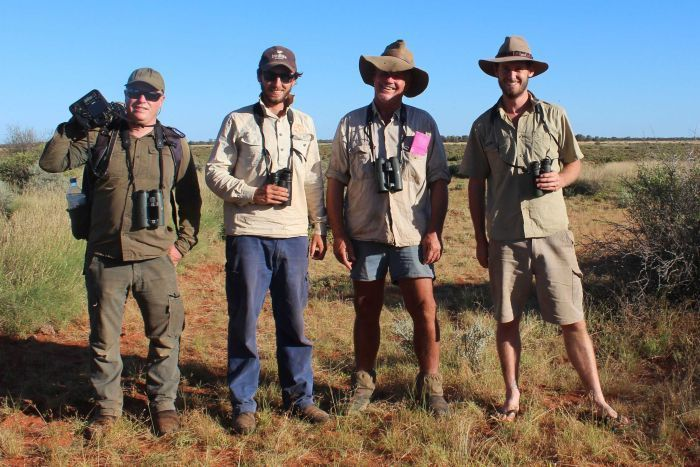 Adrian Boyle, Nigel Jackett, George Swann and Bruce Greatwich, who discovered the parrot in WA.