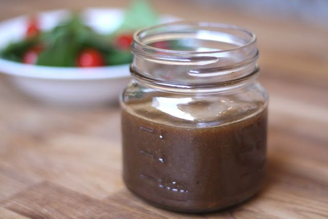 The BEST Balsamic Vinaigrette Recipe Salads with honey, dijon mustard, fine sea salt, cracked black pepper, large garlic cloves, balsamic vinegar, extra-virgin olive oil