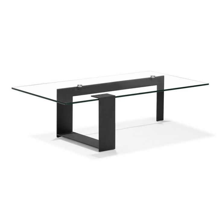 Zuo Modern Zeon Black (Metal and Tempered Glass) Rectangular Coffee Table