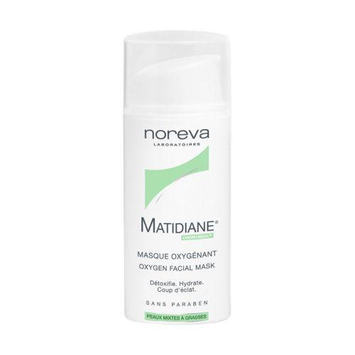 Matidiane® Masque Oxygénant   par NOREVA            Doté d'un brevet mondial, Matidiane® Masque Oxygénant est une véritable innovation dermatologique et galénique. Spécifiquement formulé pour les peaux mixtes à tendance grasse, il détoxifie en profondeur et assure une oxygénation intense à la peau en transportant les molécules d'oxygène directement au cœur des cellules de l'épiderme. - Parfumerie et parapharmacie - Noreva