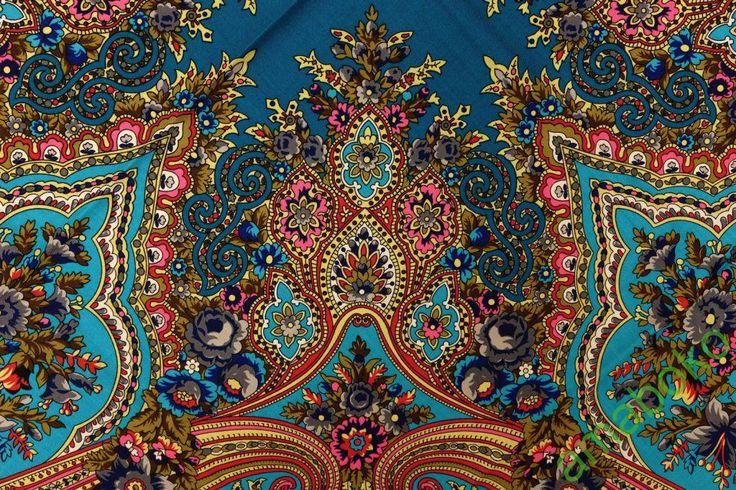 Павловопосадская шаль Разводной - 30 ***Павловопосадские платки и шали / Russian Pavlovo Posad shawls